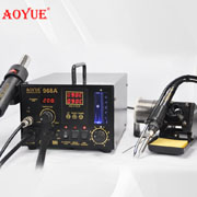 AOYUE 968A+ 3-in-1 rework station hot air gun + soldering iron + smoke absorber