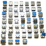 53PCS Type-A USB 3.0 Male Solder 9 Pin Plug Connector Socket