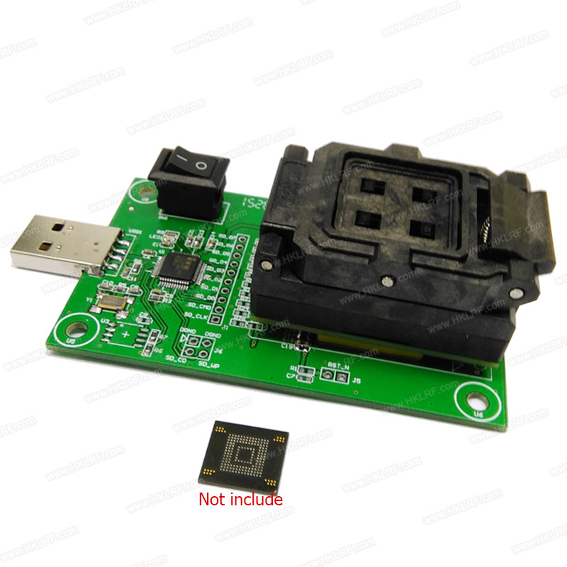 eMMC BGA153/BGA169 test socket USB Reader IC size 11 5x13mm