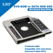 Universal 9.5mm SATA 2nd SSD HDD Hard Drive Caddy for DVD-ROM CD Optical Bay