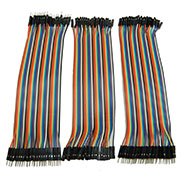 120pcs DuPont Cable Jumper 20cm 2.54mm Male-Male Male-Femal​e Female-Fem​ale