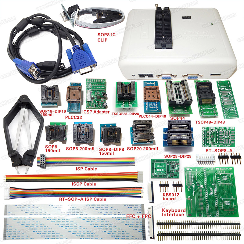 RT809H EMMC-NAND FLASH Programmer + 21 Adapter WITH CABELS