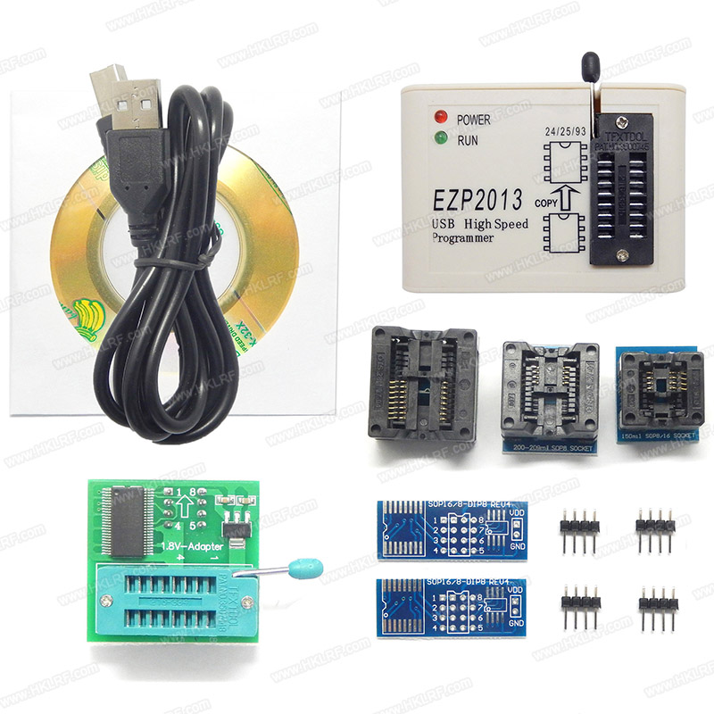 EZP2013 USB Programmer SPI 24 25 93 EEPROM Flash Bios win8