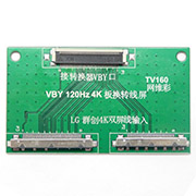 TV160 LVDS Conversion Link Board for 7th VBY 120Hz 4K 51Pin Dual screen interface input