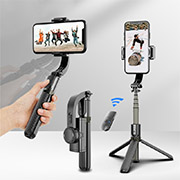 Handheld stabilizer L08 mobile phone self timer stick Bluetooth single axis anti shake shooting tripod bracket